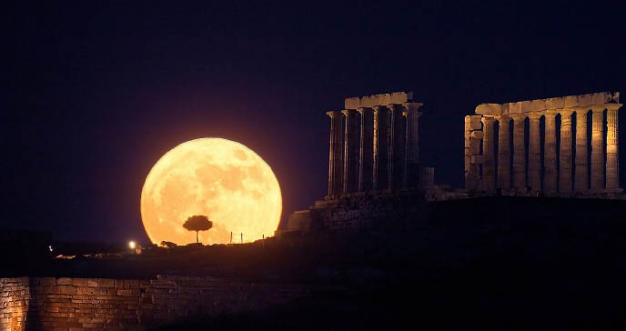 Image result for moon illusions photos