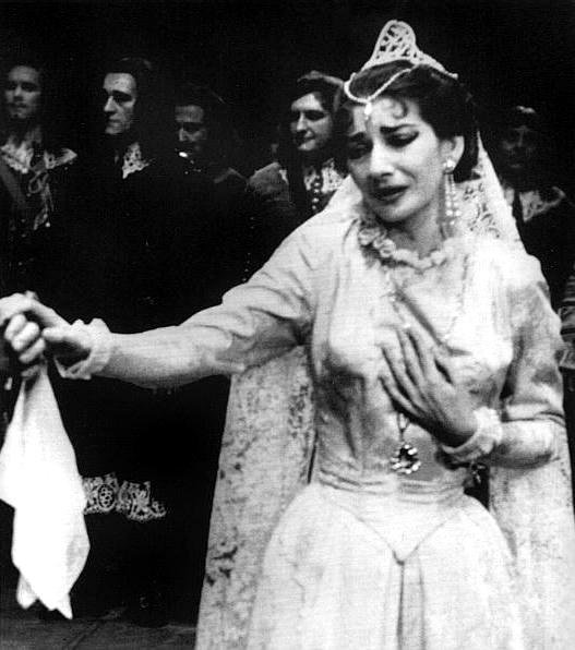 Maria Callas On Stage Joan sutherland clings to