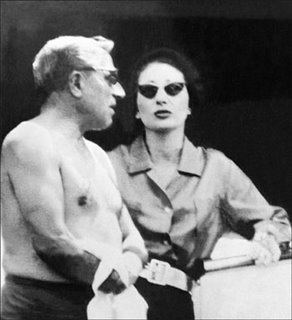 Callas and Onassis look