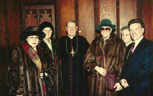 Cardinal O'Connor with Tebaldi..... Tina